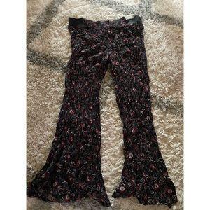 Plus size 3x floral flare leg bell bottom pants